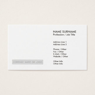 Create Your Own Simple Modern Elegant Chic Business Card