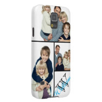 Create Your Own Simple Photo Collage w/Custom Name Galaxy S5 Case