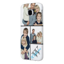 Create Your Own Simple Photo Collage w/Custom Name Samsung Galaxy S6 Case
