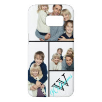 Create Your Own Simple Photo Collage w/Custom Name Samsung Galaxy S7 Case