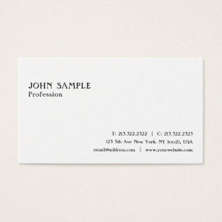 Create Your Own Simple White Plain Stylish Modern Business Card
