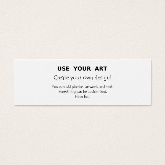 Create your own skinny mini business card with art