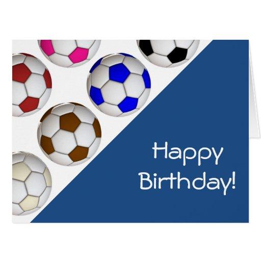 Create Your Own Soccer Birthday Card | Zazzle: zazzle.com/create_your_own_soccer_birthday_card-137456148538575399