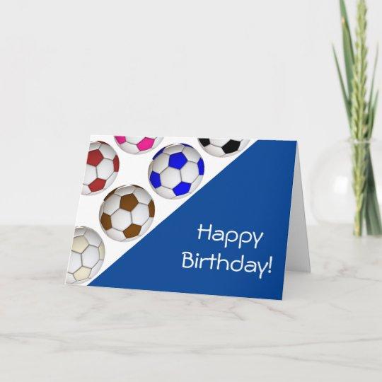 create your own soccer birthday card  zazzle