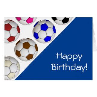 Create Your Own Soccer Birthday Card