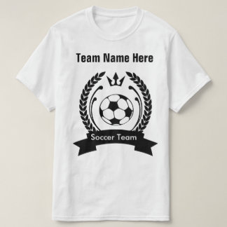 Create Your Own Soccer Team T-Shirt Template