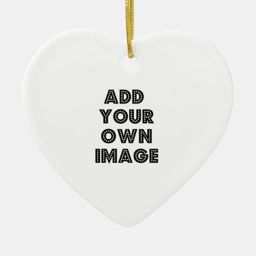Create Your Own Special Double-Sided Heart Ceramic Christmas Ornament