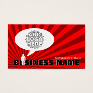 create your own speech bubble business card