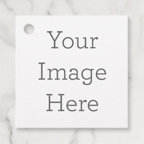 Create Your Own Square Favor Tags
