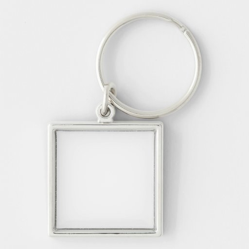 "Small (1.38"") Premium Square Keychain"