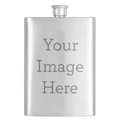 Create Your Own Stainless Steel Flask at Zazzle