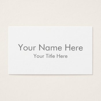 Create Your Own Standard Business Card by zazzle_templates at Zazzle
