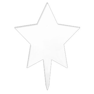Create your own star cake topper