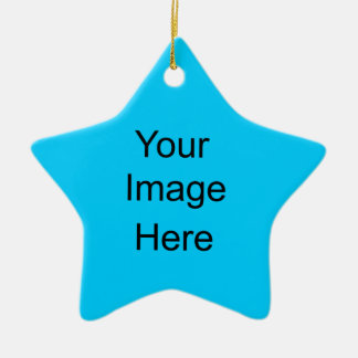 Create Your Own Star Ornament Bright Blue