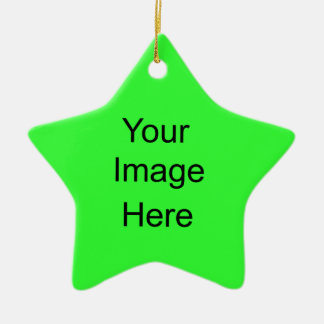 Create Your Own Star Ornament Bright Green