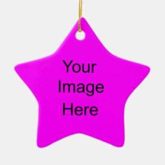 Create Your Own Star Ornament Bright Pink