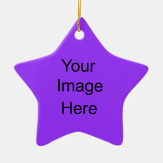 Create Your Own Star Ornament purple
