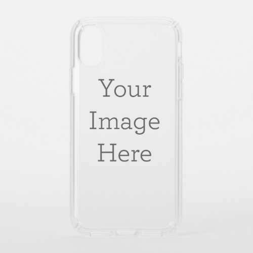 Create Your Own Stay Clear Speck iPhone X Case Phone Case