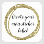"""Create Your Own Sticker Label<br><div class=""""desc"""">Create your own sticker label with your own font,  text,  and background color!</div>"""