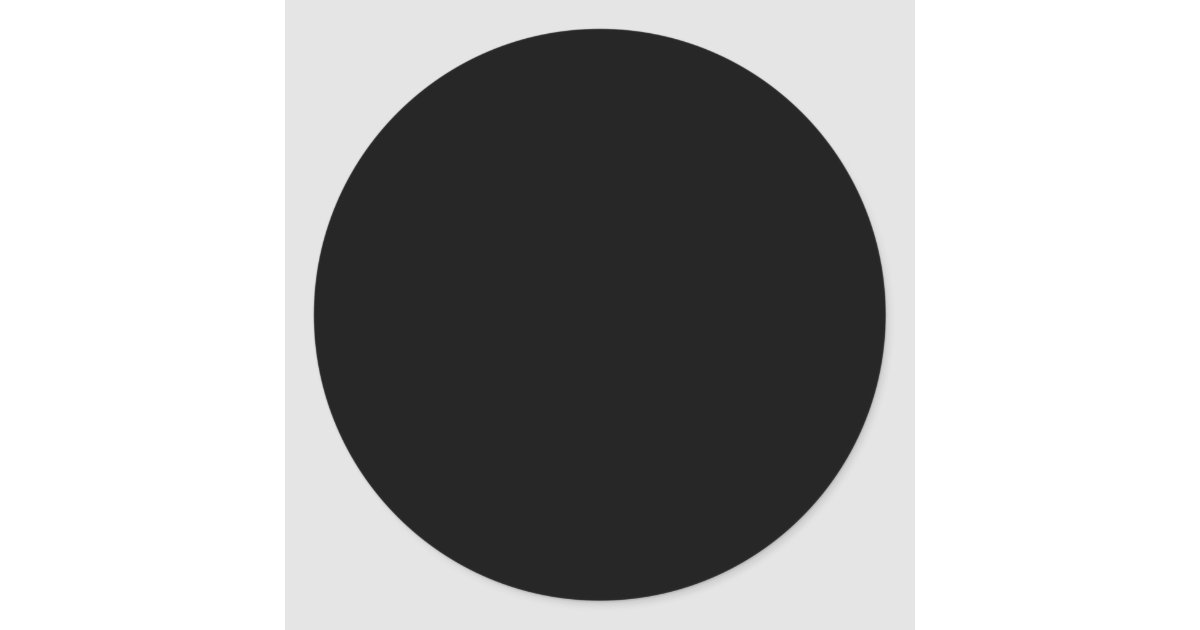 Create Your Own Stickers Black Circle Large Zazzle