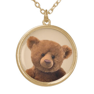 Create Your Own Stuffed Animal Gold Plated Necklace