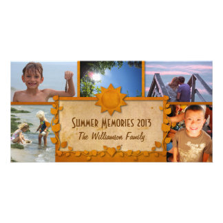 """Create your own """"Summer Memories"""" photocard! Card"""