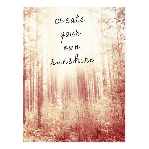 Create Your Own Sunshine Inspirational Quote Postcard