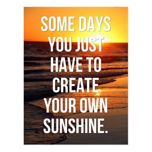 Create Your Own Sunshine Quote Postcard