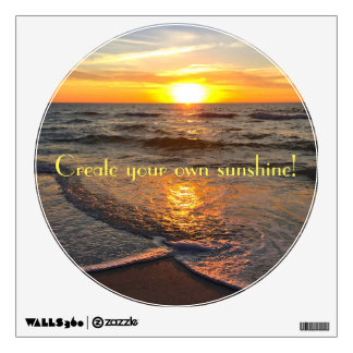 Create your own sunshine wall decal! wall decal