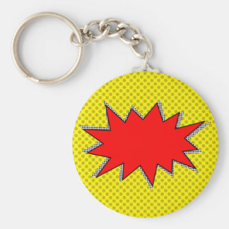 Create Your Own Superhero Onomatopoeias! Custom BG Keychain