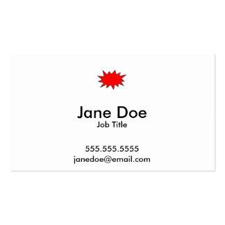 Create Your Own Superhero Onomatopoeias! POW! Business Card