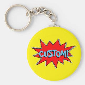 Create Your Own Superhero Onomatopoeias! POW! Keychain