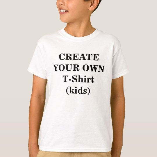 Create your own t shirt kids for Design your own tee shirt