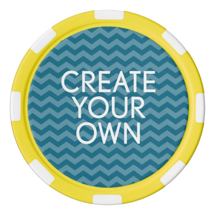 Create Your Own Template Set Of Poker Chips