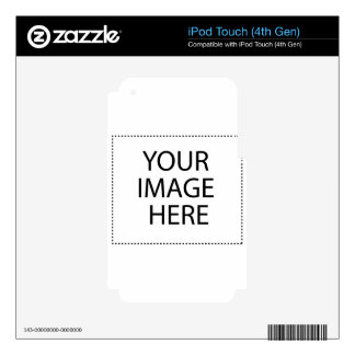 Create your own text and design :-) iPod touch 4G decals