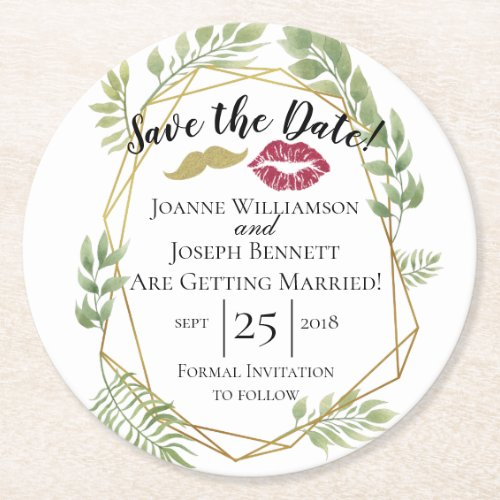 Create your own thank you coaster save the date round paper coaster