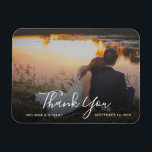 "Create your own Thank you Wedding photo Magnet<br><div class=""desc"">Create your own photo Thank you Wedding magnet. Send this very personal Thank You card to all your wedding guests. Add your own photo and text,  your names and date.</div>"