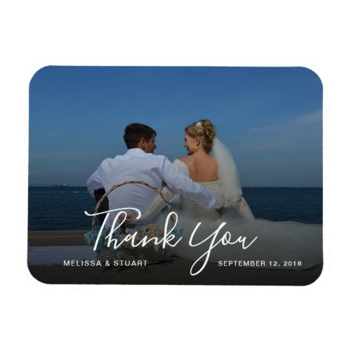 Create your own Thank You wedding photo Magnet