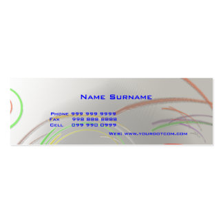 Create Your Own Thin Business Card Silver