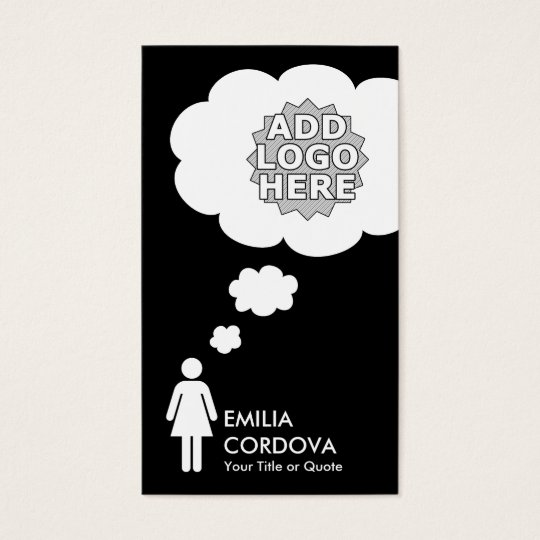 create your own thought bubble business card
