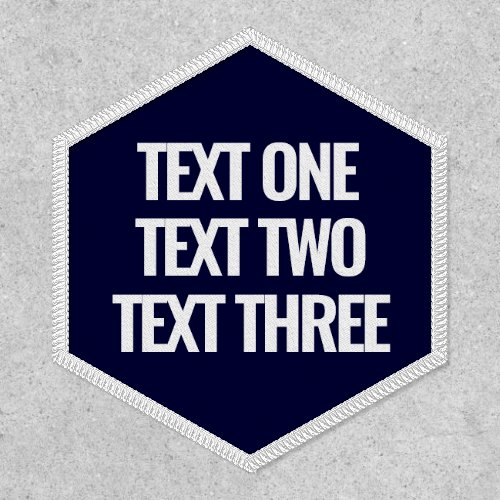 Create Your Own Three Line Custom Text Patch