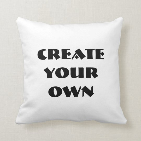 Create Your Own Throw Pillow