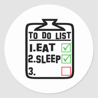 Create Your Own To do List Classic Round Sticker