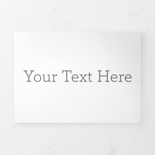 Create Your Own Trifold Letter Fold Program