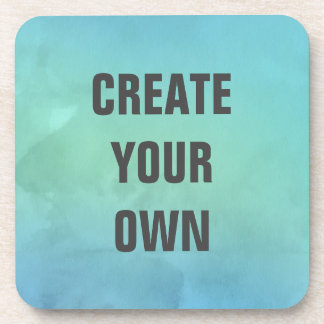 Create Your Own Turquoise Watercolor Painting Drink Coaster