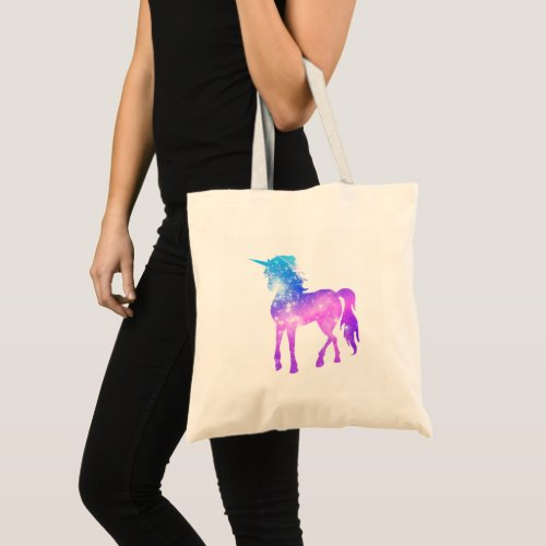 Create Your Own Unicorn Photo Silhouette Tote Bag