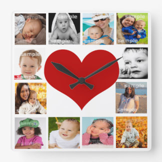 Create Your Own Unique Custom Personalized Square Wall Clock