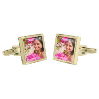 Create Your Own Unique Personalized Gold Cufflinks