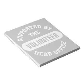 Create your own unique volunteer team notepad