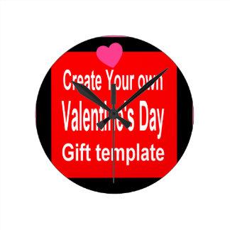 Create Your Own Valentine Gift Round Wall Clocks